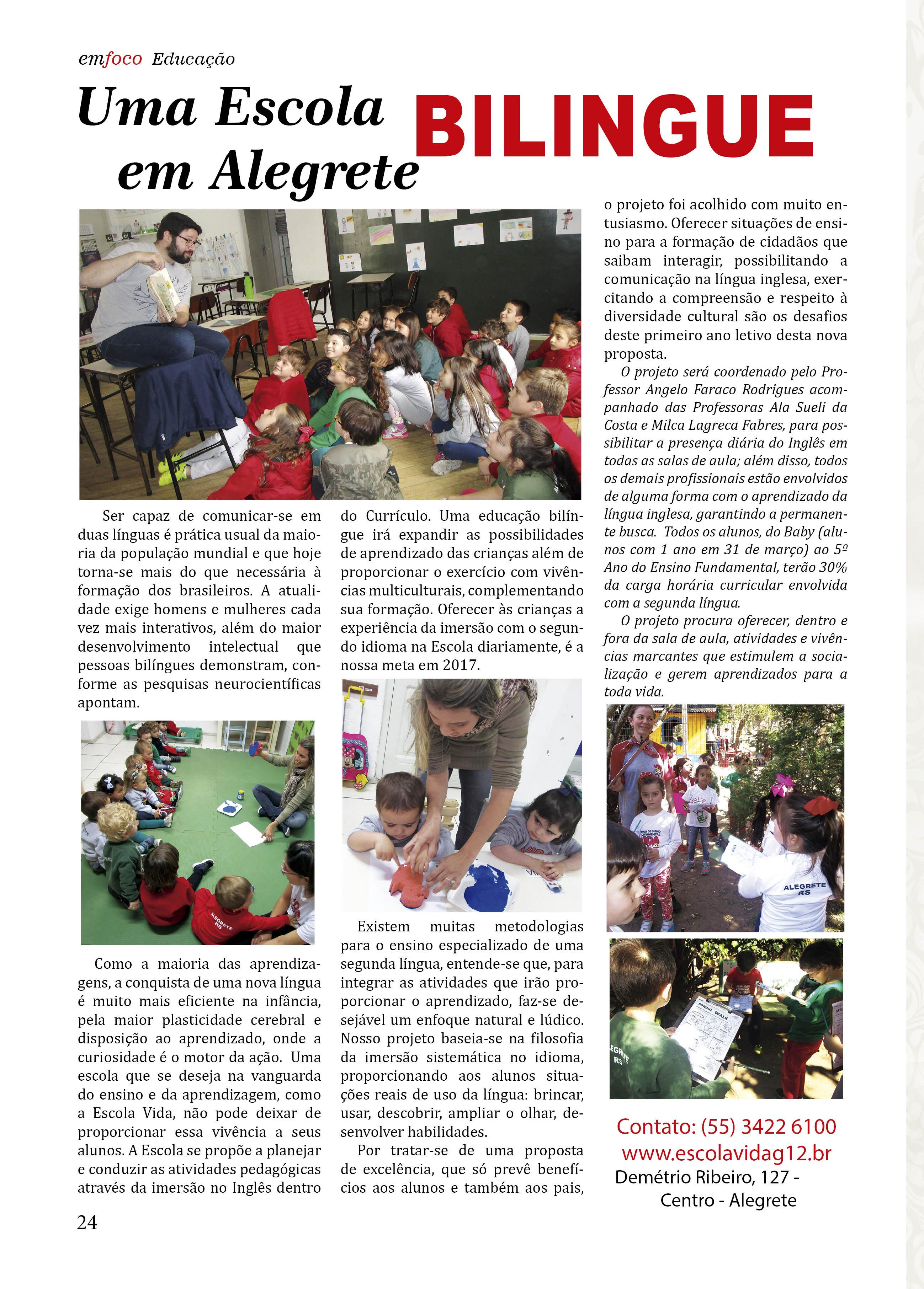 Uma escola Bilingue em Alegrete